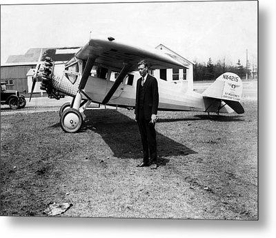 America Pilot Charles Lindbergh Metal Print by Everett