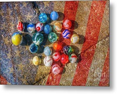 American As Marbles Metal Print by Randy Steele