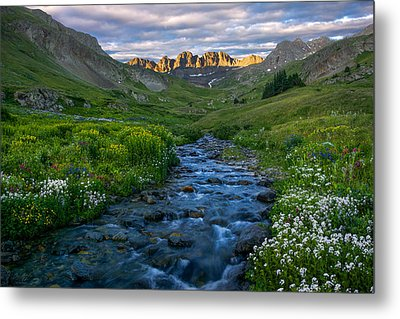 Metal Print featuring the photograph American Basin Stream by Aaron Spong