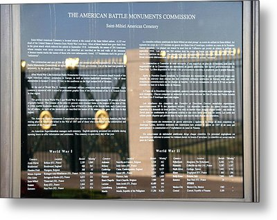 Metal Print featuring the photograph American Battle Monuments Commission by Travel Pics
