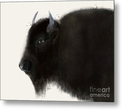 Metal Print featuring the painting American Buffalo by Bri B
