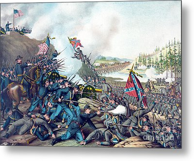 American Civil War, Battle Of Franklin Metal Print