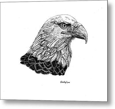 American Eagle Metal Print by Cynthia  Lanka
