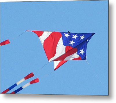 American Flag Kite Metal Print by Gregory Smith