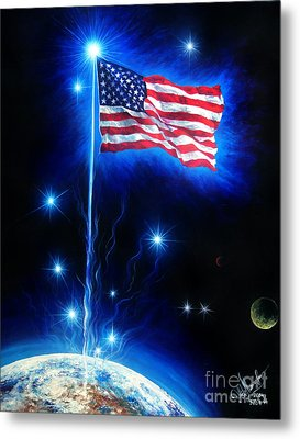 American Flag. The Star Spangled Banner Metal Print by Sofia Metal Queen