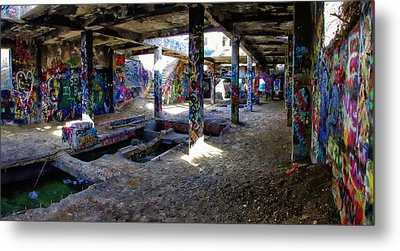 Metal Print featuring the photograph American Flat Mill Basement Virginia City Nevada by Scott McGuire