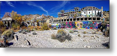 Metal Print featuring the photograph American Flat Mill Virginia City Nevada Panoramic by Scott McGuire