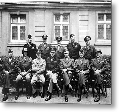 American Generals Wwii  Metal Print by War Is Hell Store