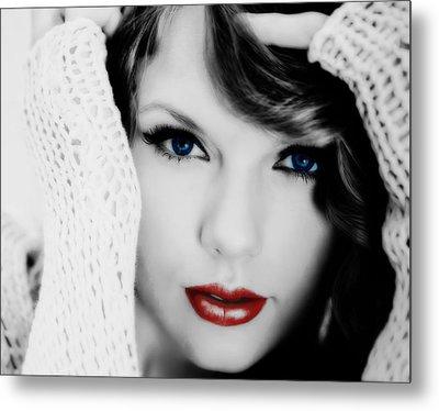 American Girl Taylor Swift Metal Print by Brian Reaves