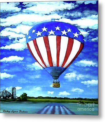 American High Metal Print by Ricky Baker