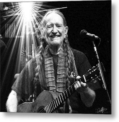 American Icon - Willie Nelson Metal Print by David Syers