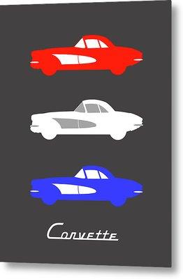 American Icon - Corvette Metal Print by Mark Rogan