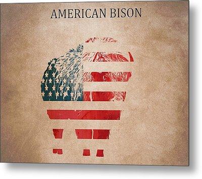 American Mammal The Bison Metal Print by Dan Sproul