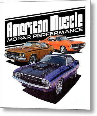American Mopar Muscle Metal Print by Paul Kuras