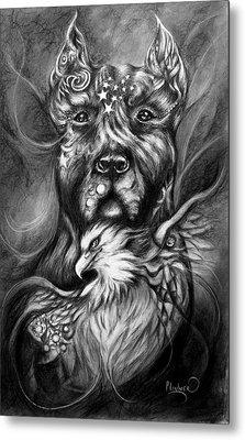 American Pitbull Metal Print by Patricia Lintner