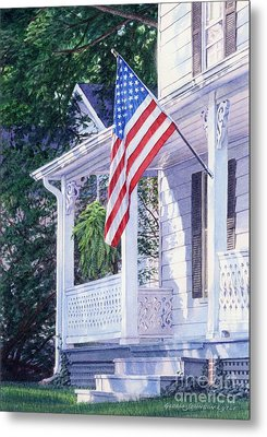 American Porch Metal Print by Gloria Johnson