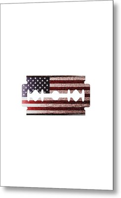 American Razor Metal Print by Nicholas Ely