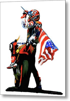 American Revolution Four Nicky Hayden Metal Print
