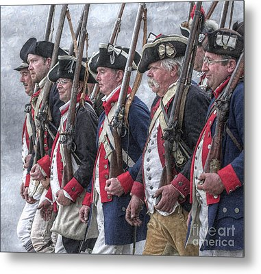 American Revolutionary War Soldiers Metal Print by Randy Steele