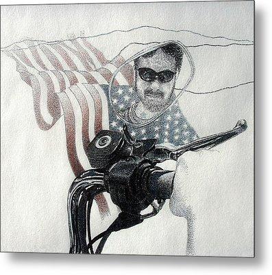American Rider Metal Print