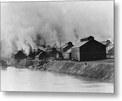 American Steel And Wire Plant Metal Print by Everett