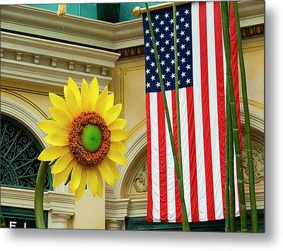 American Sunflower Metal Print by Rae Tucker