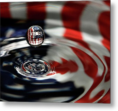 American Water Drop Metal Print