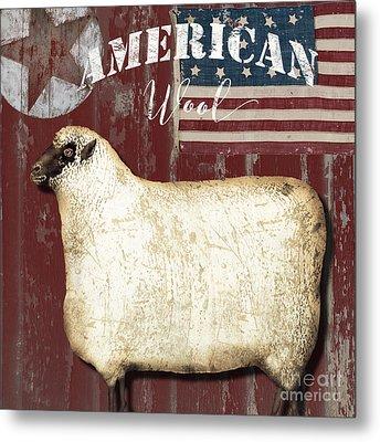 American Wool Metal Print by Mindy Sommers