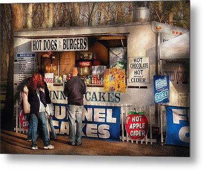 Americana - Food - Hot Dogs And Funnel Cakes Metal Print by Mike Savad