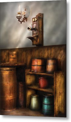 Americana -  In The Corner Of The General Store  Metal Print by Mike Savad