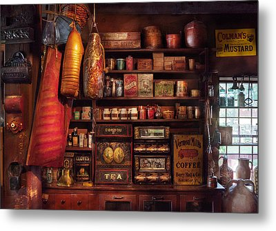 Americana - Store - The Local Grocers  Metal Print by Mike Savad