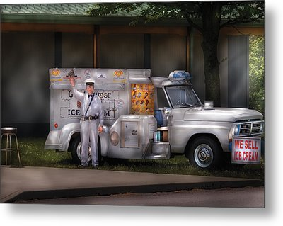 Americana -  We Sell Ice Cream Metal Print by Mike Savad