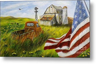 Americana Metal Print by Donna Vesely