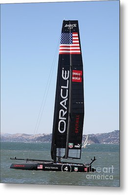 America's Cup In San Francisco - Oracle Team Usa 4 - 5d18225 Metal Print by Wingsdomain Art and Photography