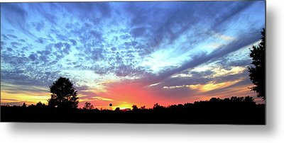 City On A Hill - Americus, Ga Sunset Metal Print by Jerry Battle