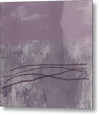 Amethyst 1- Abstract Art By Linda Woods Metal Print by Linda Woods