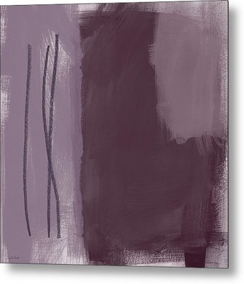 Amethyst 3- Abstract Art By Linda Woods Metal Print by Linda Woods