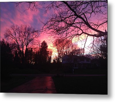 Amethyst Sunset Metal Print by Rebecca Wood