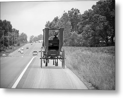 Amish Buggy Metal Print by Steven Michael