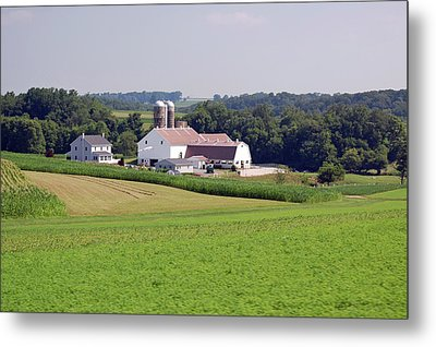 Amish Farm Metal Print by Joyce Huhra