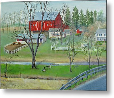Amish Farm Metal Print by Oz Freedgood