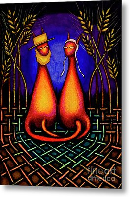 Amish Kats Metal Print by Laurie Tietjen