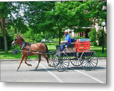 Amish Merchant 5671 Metal Print by Guy Whiteley