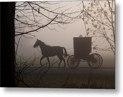 Amish Morning 1 Metal Print