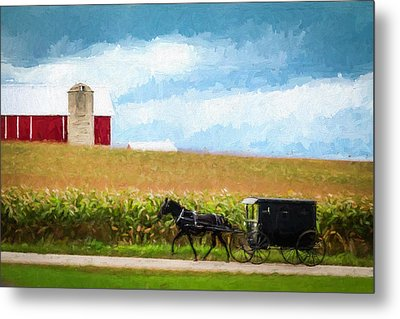 Metal Print featuring the digital art Amish Paradise by Joel Witmeyer