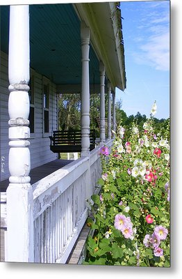 Amish Porch Metal Print by Ed Smith