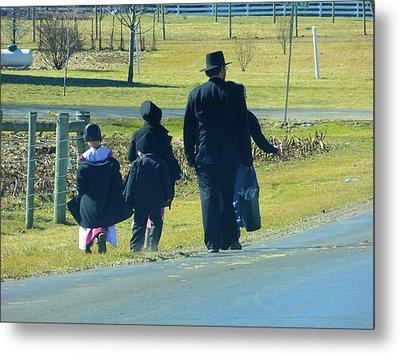 Amish Sunday 1 Of 5 Metal Print