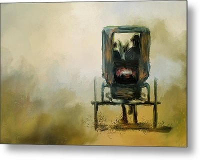 Amish Wagon Metal Print by Jai Johnson