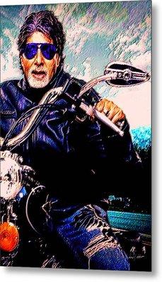 Amitabh Bachchan - Living Legend Metal Print by Piety Dsilva