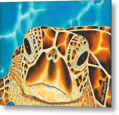 Amitie Sea Turtle Metal Print by Daniel Jean-Baptiste